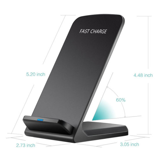 Qi Standard Double Coils Wireless Charger for iPhone 8 / iPhone 8 Plus  /iPhone X / Samgsung
