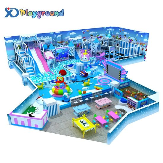 Customized Big Amusement Children Playground Equipment Indoor with Trampoline pictures & photos