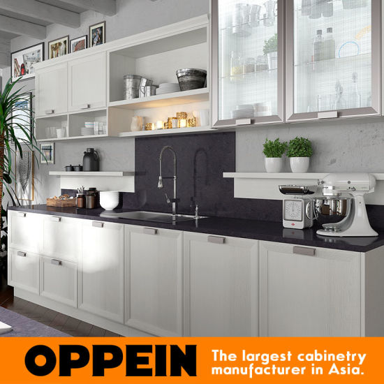Oppein American Standard Vinyl Wrapped Pvc Complete Kitchen Cabinets Op17 Pp04