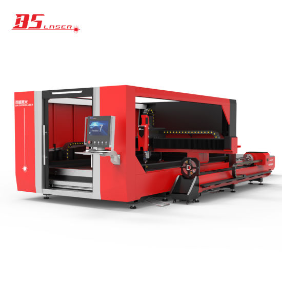 Industrial Laser Equipment 1530 Metal Plate Tube Pipe CNC Fiber Laser Cutting Machine with Rotary Device Cutter