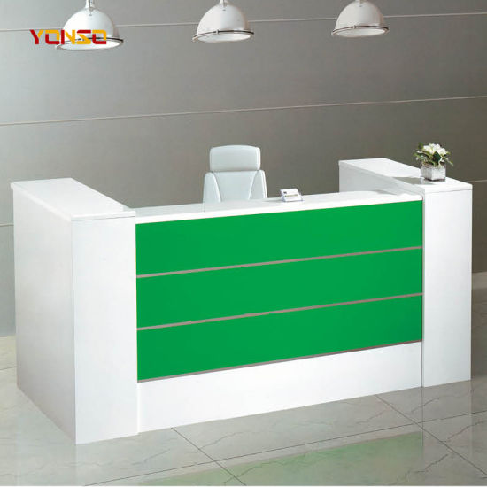 China Curved Reception Desk Shop Cash Counter Table Design China
