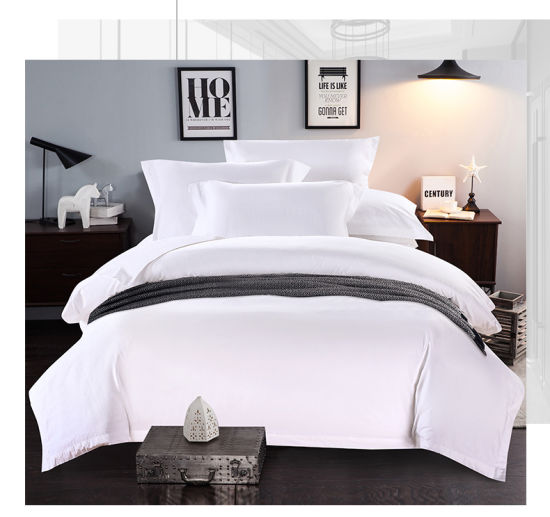 China Factory Supply Hotel Bed Linen Plain White Bed Duvet Covers