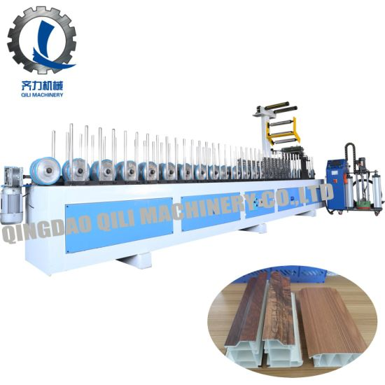 PUR Profile Wrapping Machine for PVC/WPC Wall Panel