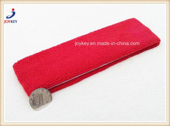 High Quality Strong Plain Terry Cotton Elastic Head Sweatband