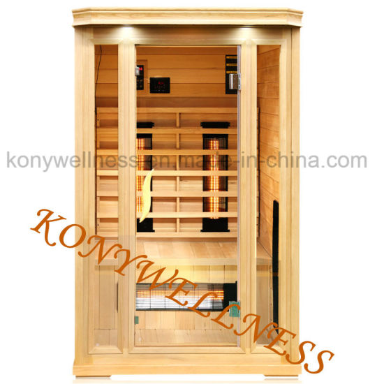 2 Person Far Infrared Sauna Room Made of Pure Hemlock Wood with Ce and ETL