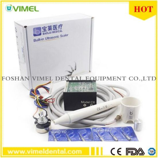 Dental Built-in Ultrasonic Scaler with H2 Detachable Autoclavable C6 Handpiece