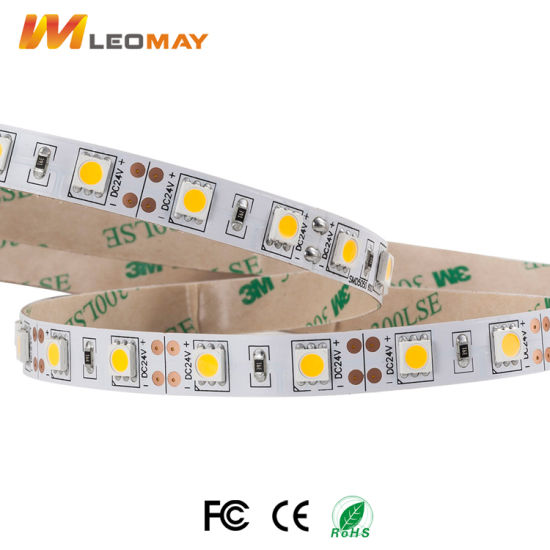 Cool White 14.4W/M SMD5050 Flexible LED Strip Light with CE UL