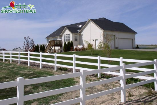 China hot popular 3 rails farm horse agriculture pvc vinyl fence