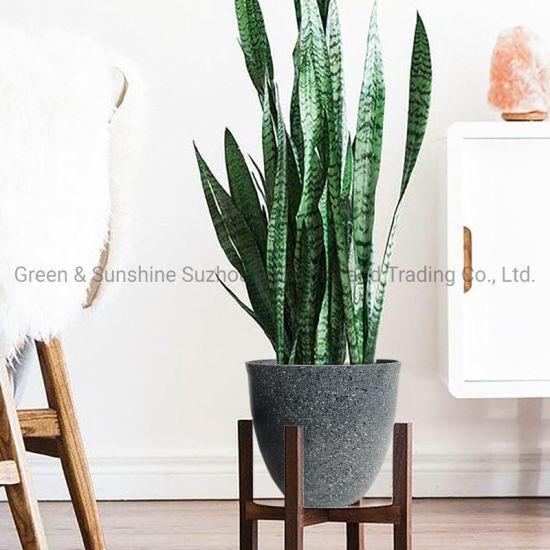Manufacturer Wholesale Multiple Sizes European Style High Quality Decorative Natural Looking Egg Plastic Flower Pot Plant Pot Garden Planter
