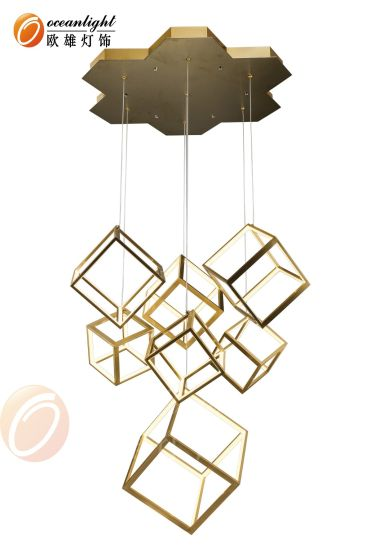 Chrome Gold Black White LED Modern Cubic Pendant Lighting Omd8180003 pictures & photos