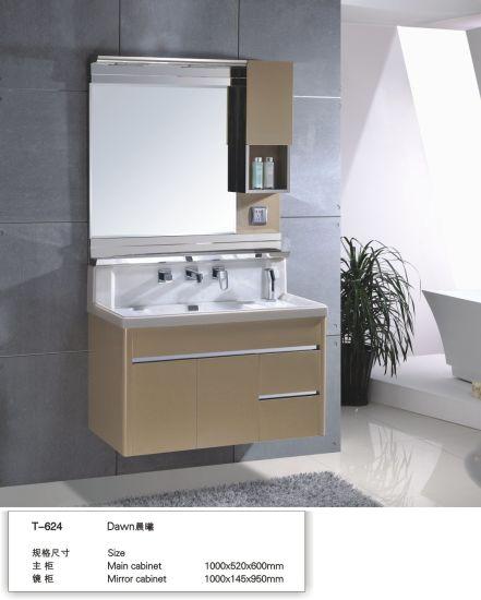 Mirrored 60/ 80cm Small Ceramic Basin Stainless Steel Bathroom Vanity