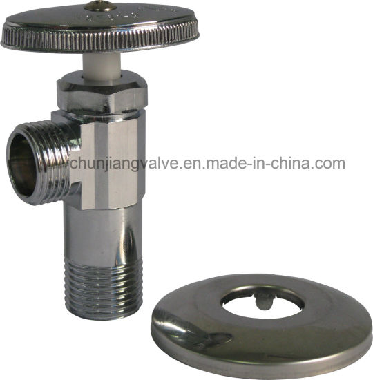 Hot Sale Brass Long Shank Angle Valve with Wall Flange (J11MC) pictures & photos