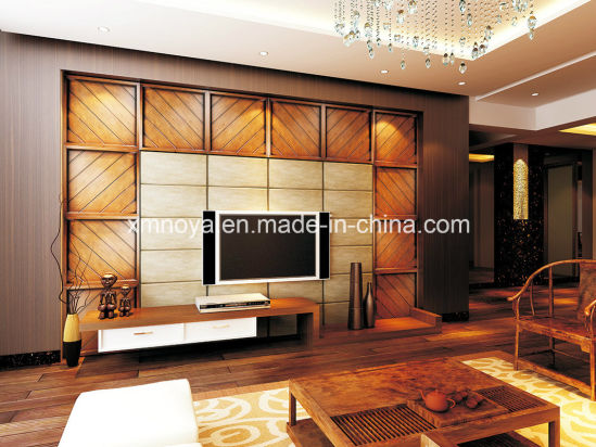 Acoustic Absorption Waterproof Yellow Teak Wooden SMC 3D Wall Panel pictures & photos