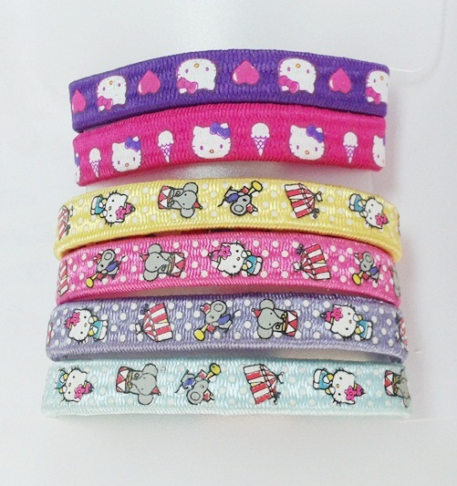 Flat Printed Children' S Hairbands Elastics pictures & photos