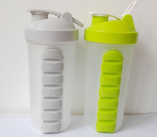 BPA Free 600ml Plastic Cyclone Cup with Strainer