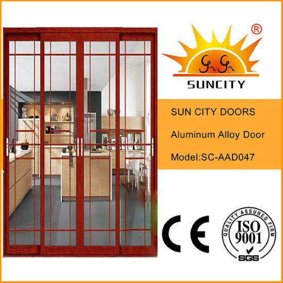 Economic Cheaeper Sales Decorative Balcony Aluminum Door (SC-AAD047)