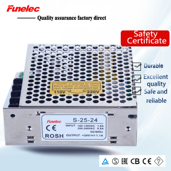 China S-25-5 25W 5V 5A SMPS AC/DC Converter Power Supply - China ...