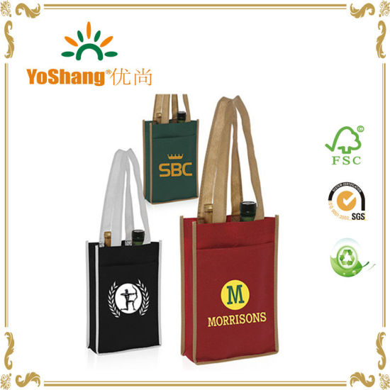 4c0457bd2f China Wholesale Promotional Non Woven Wine Bag