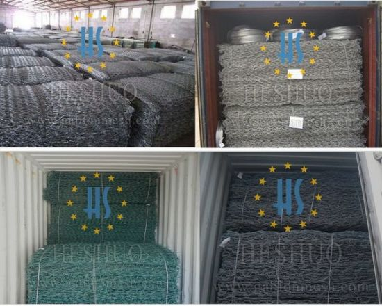 Hexgonal Double Twisted Gabion Basket with Low Price&Best Quality pictures & photos