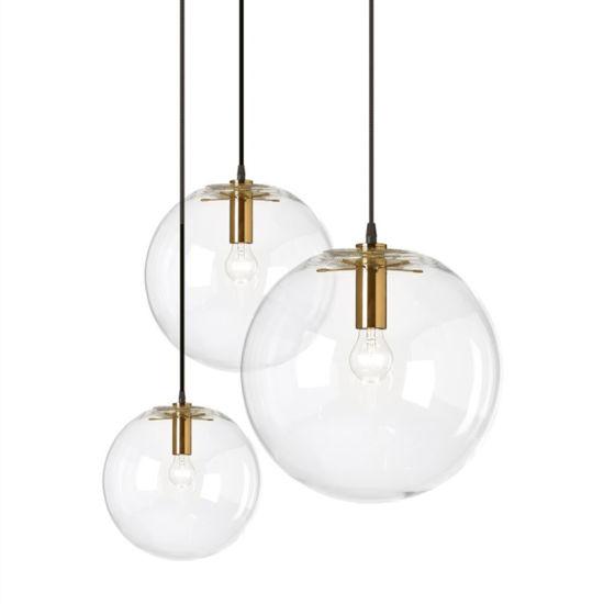 Popular Glass Ball E27 Pendant Lamp for Wholesale Showroom