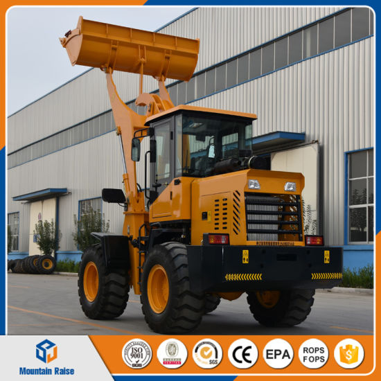 Low Price 1800kg Big Tires Wheel Loader with High-Horsepower Engine pictures & photos