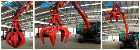 Multi Application Excavator with Grab for Steel, Bulk pictures & photos