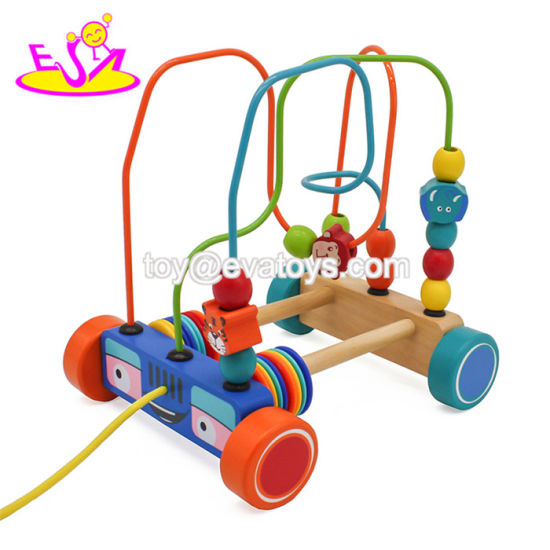 Hot Item Best Design Baby Educational Wooden Push Along Toys For 1 Year Old W05c098