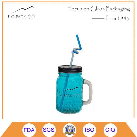 Mason Jar Drinking Glass with Straw/Drinking Mug, Beer Mugs