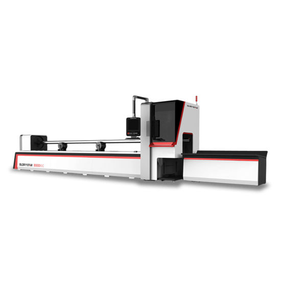 Advanced Fiber Laser Stainless Steel Pipe Cutting Machine for Elevator Manufacturing GS-6022tg