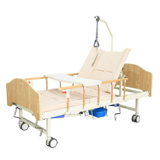 Hospital Bed Equipment Two Cranks Patient Use Manual Medical Device