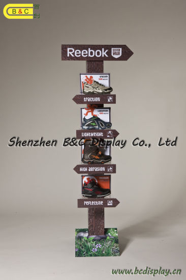 1PC/CTN Cardboard Display, Paper Display Stand, Corrugated Display, Cardboard Floor Display, Hook POS Display, Pegboard Display (B&C-A047) pictures & photos