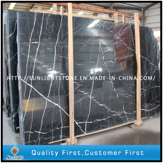 China Black White/Nero Marquina Marble Slabs for Floor Tiles pictures & photos
