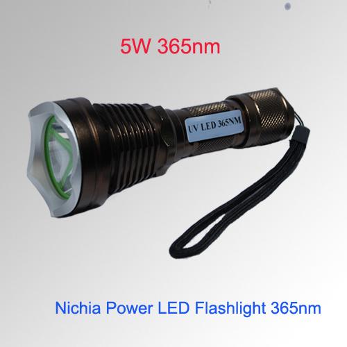 LED UV Flashlight Uses 365nm 5W
