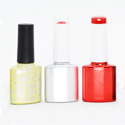 Colorful Empty Glass Nail Polish Bottle with Cap & Brush