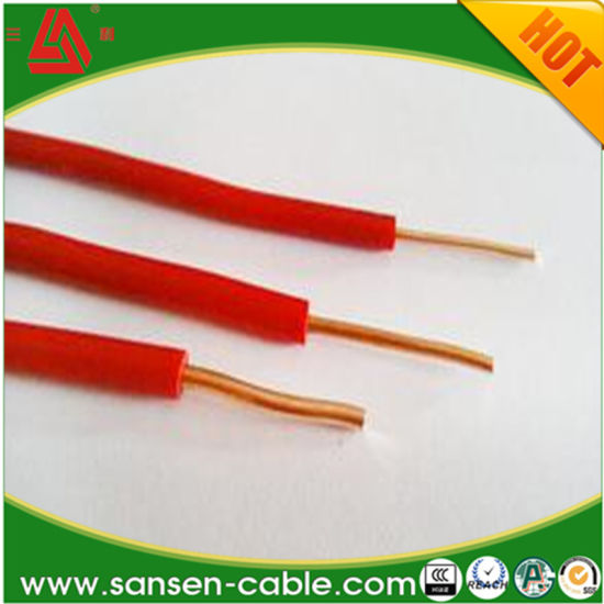 china red electric single copper power ground earth wire china rh sansen cable en made in china com