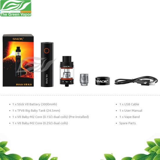 China Best Selling Vapor Starter Kits Smok Stick V8 Kit With Tfv8