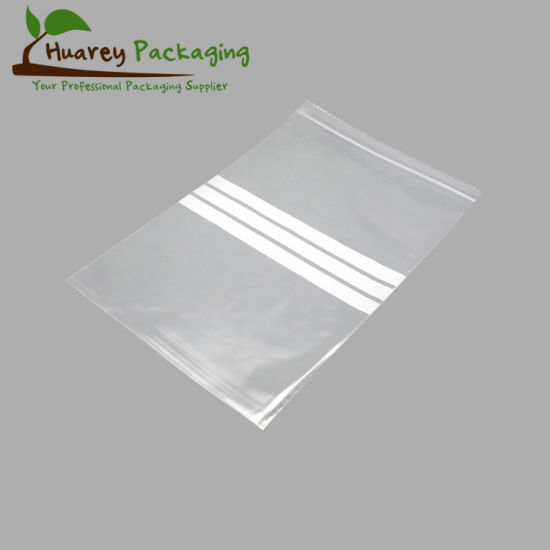 LDPE Plastic Grip Seal Bags with Write on Panel