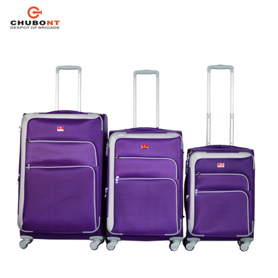 Chubont Hot Sell Nylon Spinner Luggage with Telescopic Handle