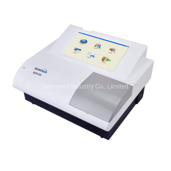 LCD Touch Screen Medical Lab Equipment Elisa Microplate Reader Ber103