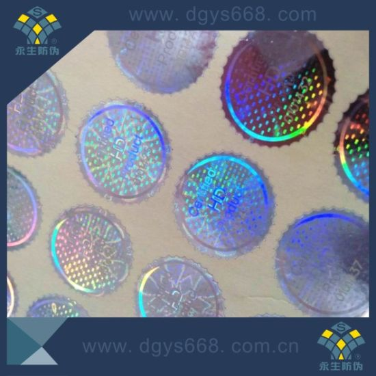 Company Logo Design Holographic Hologram Label pictures & photos