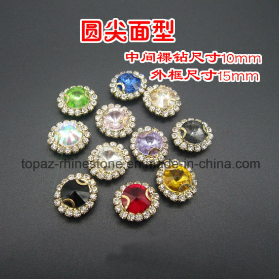 Sew on Rhinestone Glass Beads Crystal Beads for Wedding Shoes (SW-Rivoli 12mm) pictures & photos