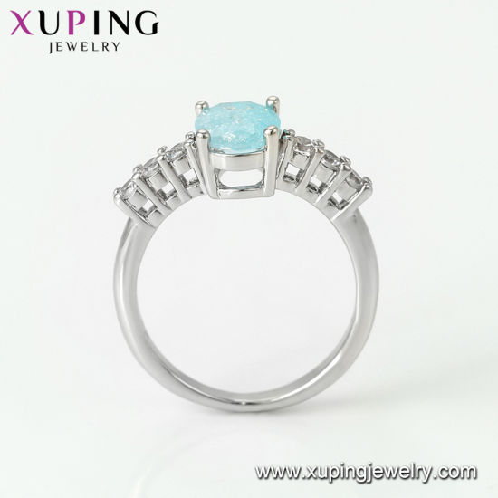 15250 Fashion Luxury CZ Diamond Big Flower Silver-Plated Jewelry Finger Ring for Wedding pictures & photos