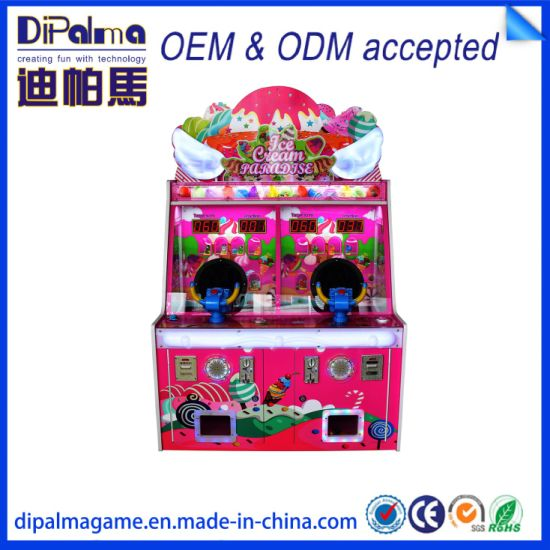 Coin Operated Kids Arcade Ice Cream Paradise Ball Shooting Games Machine