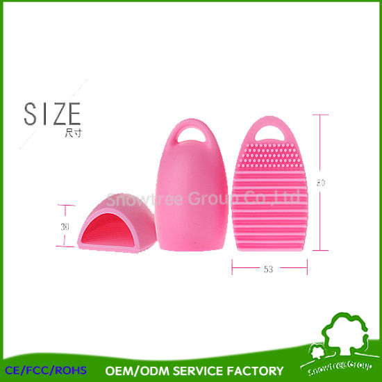 New Style Design Heart Shape Makeup Silicone Brush Egg Cleaning Tools pictures & photos