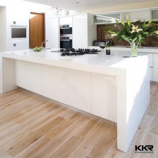 Anti Static Counter Top : China engineered stone customized corian white cafe