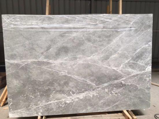 China Silver Grey Light Marble Slab For KitchenBathroomWallFloor - Marble slab bathroom