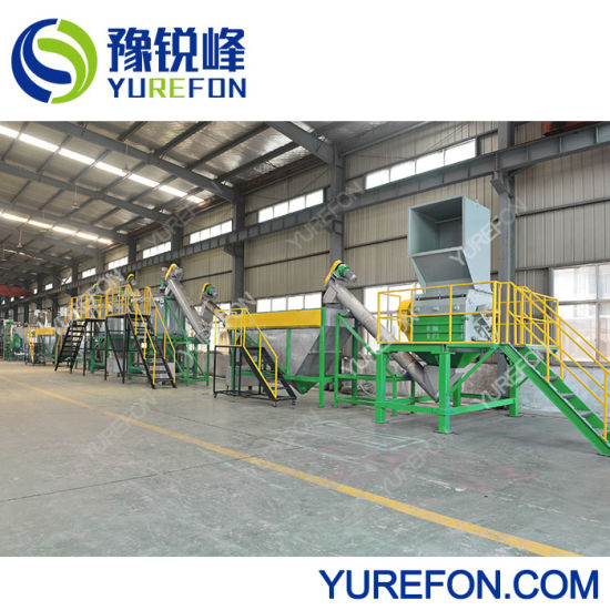 Professional Plastic Pet HDPE Bottle Flakes PP LLDPE LDPE Woven Bag Agricultrual Film Crushing Washing Pelletizing Recycling Machine for Waste Recycle Line pictures & photos