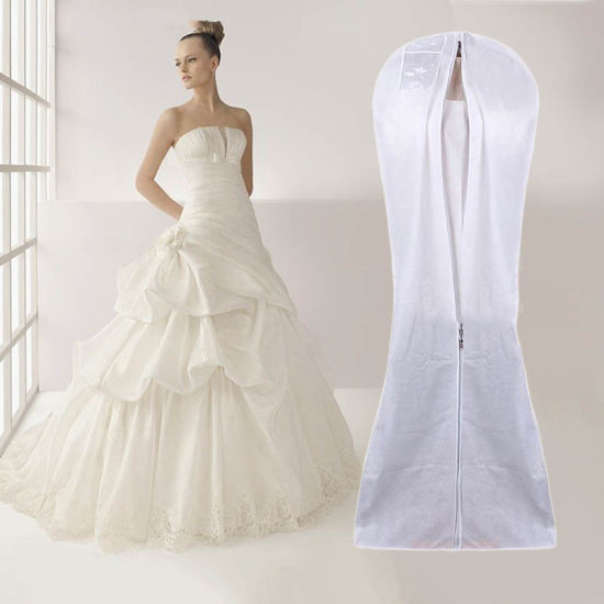 China Non Woven Wedding Dress Garment Bag Wholesale Customize Eco Friendly Bridal Suit Cover Dustproof Packaging Promitional Shopping Gift Bag With Pvc Window China Carrier Bag And Packing Price