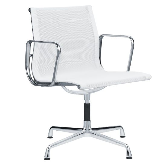 Midle Back Office Guest White Mesh Meeting Chair