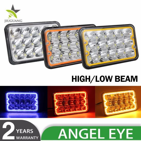 High Low Beam Angle Eye 45W 7 Inch 7X6 LED Headlight for Ford H6054
